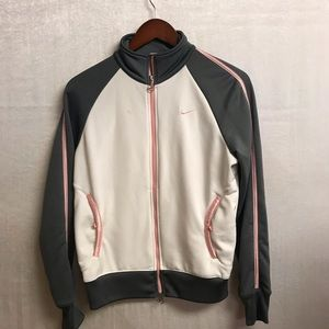 Women's Pink, White, Grey Nike Jacket Size Medium